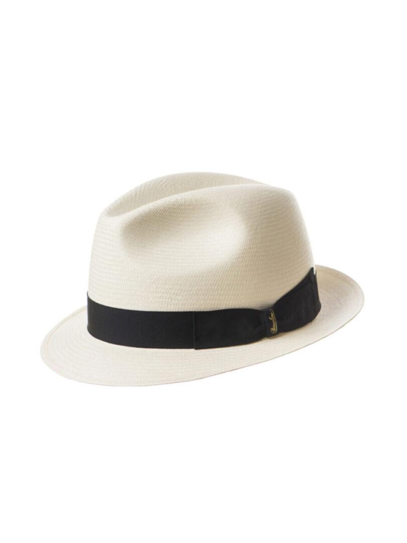 Borsalino Panama bor mic alb/negru