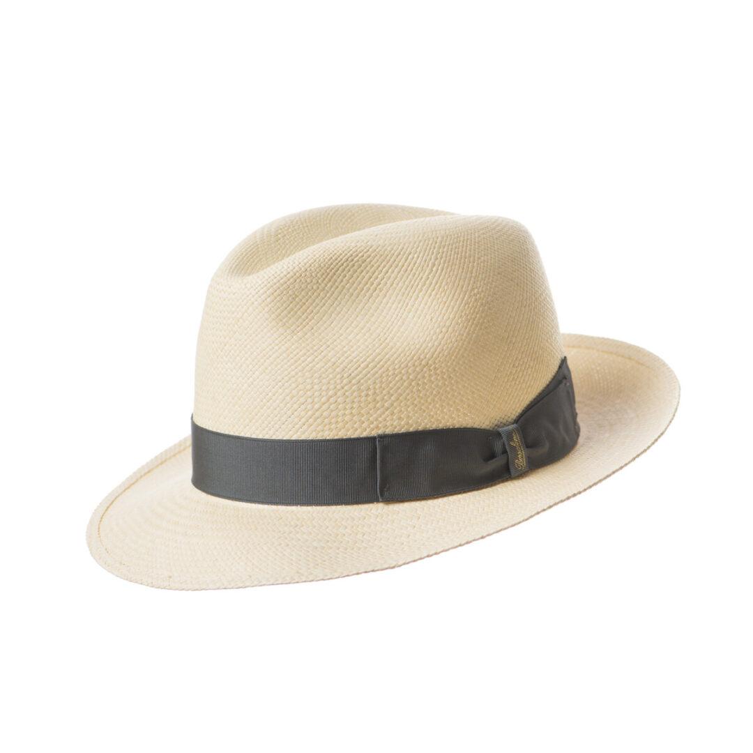 Borsalino Panama bor mic alb/gri (colectia SS2020)