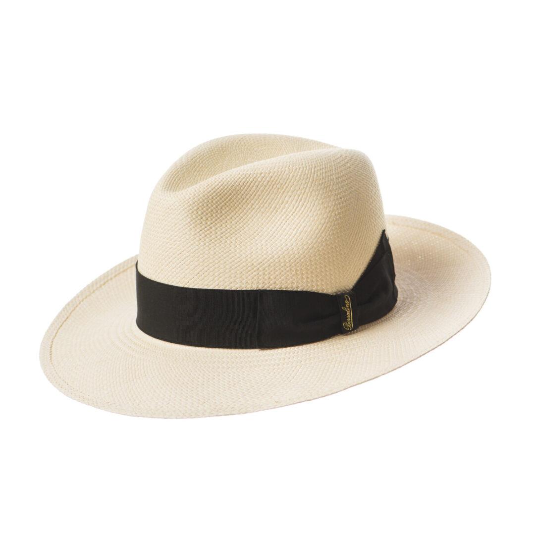 Borsalino Panama bor Mare alb/negru (colectia SS2020)