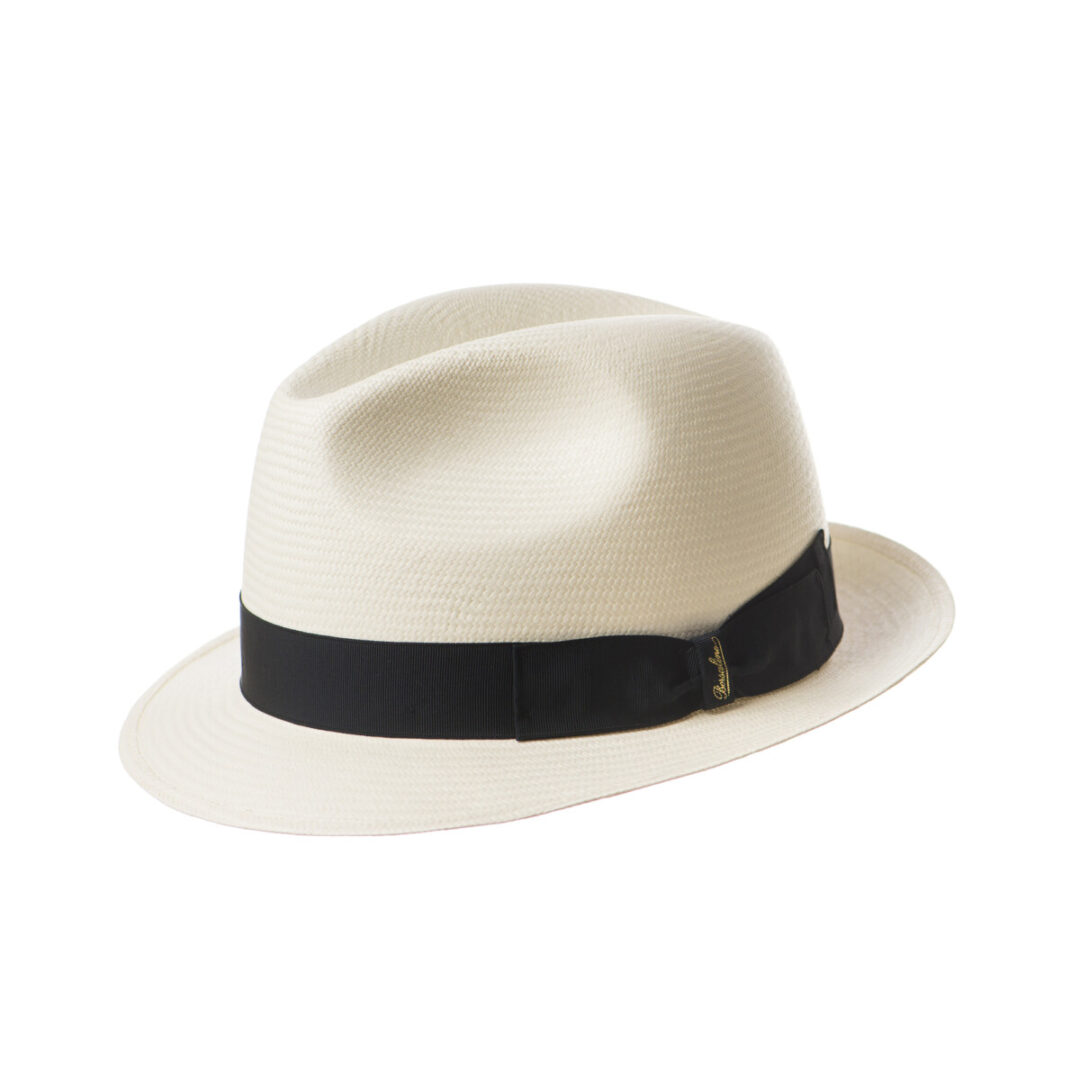 Borsalino Panama bor mic alb/negru (colectia SS2020)