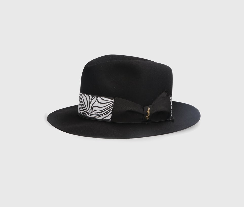 Borsalino Bogart negru, cut 4 (NEW COLLECTION SS2020)