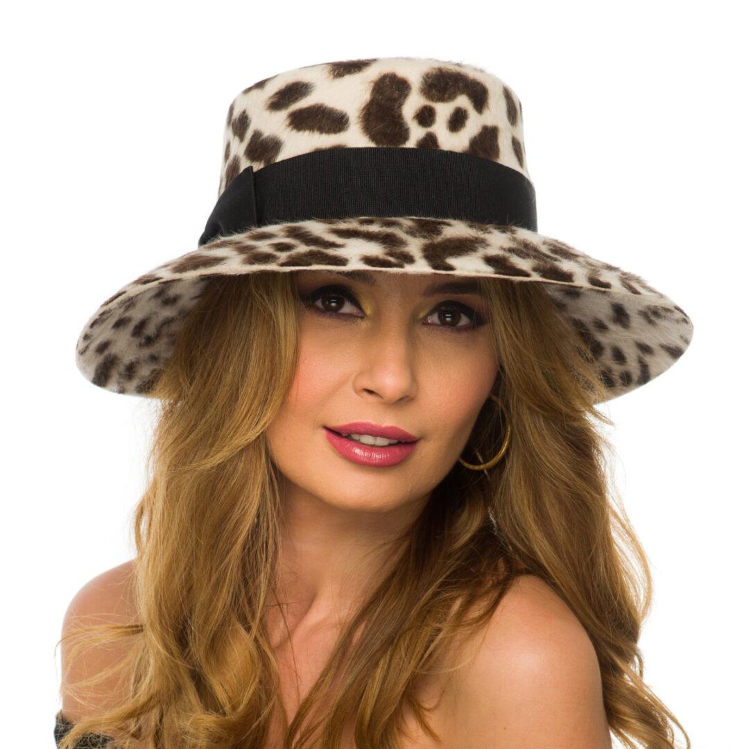 Palarie Malina small leopard