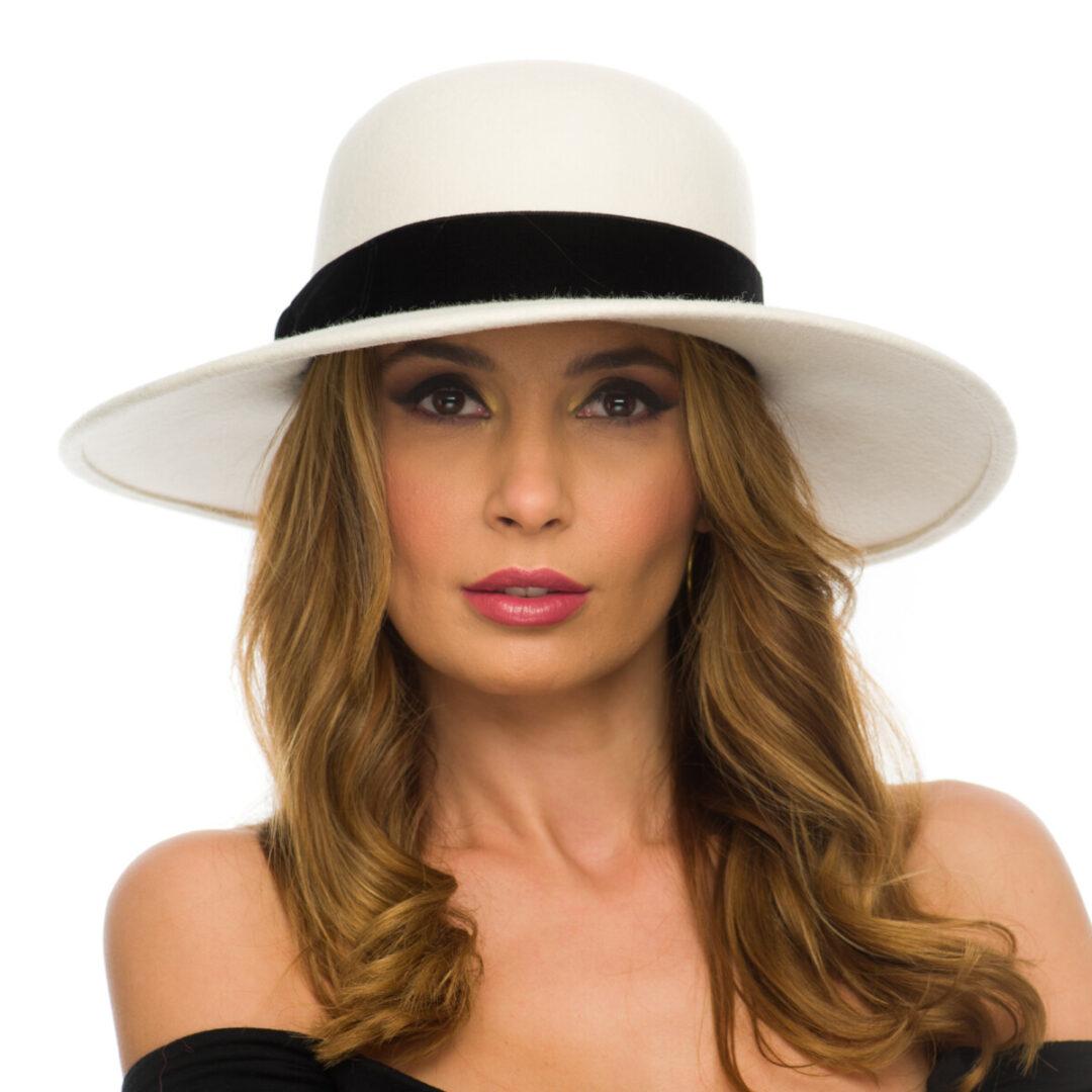 Palarie  Maria medium bianco/nero