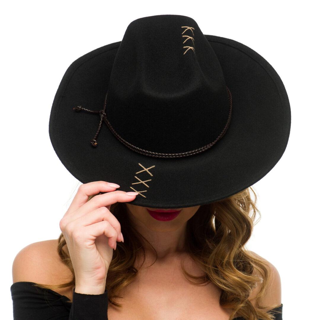 Palarie Cowboy nero