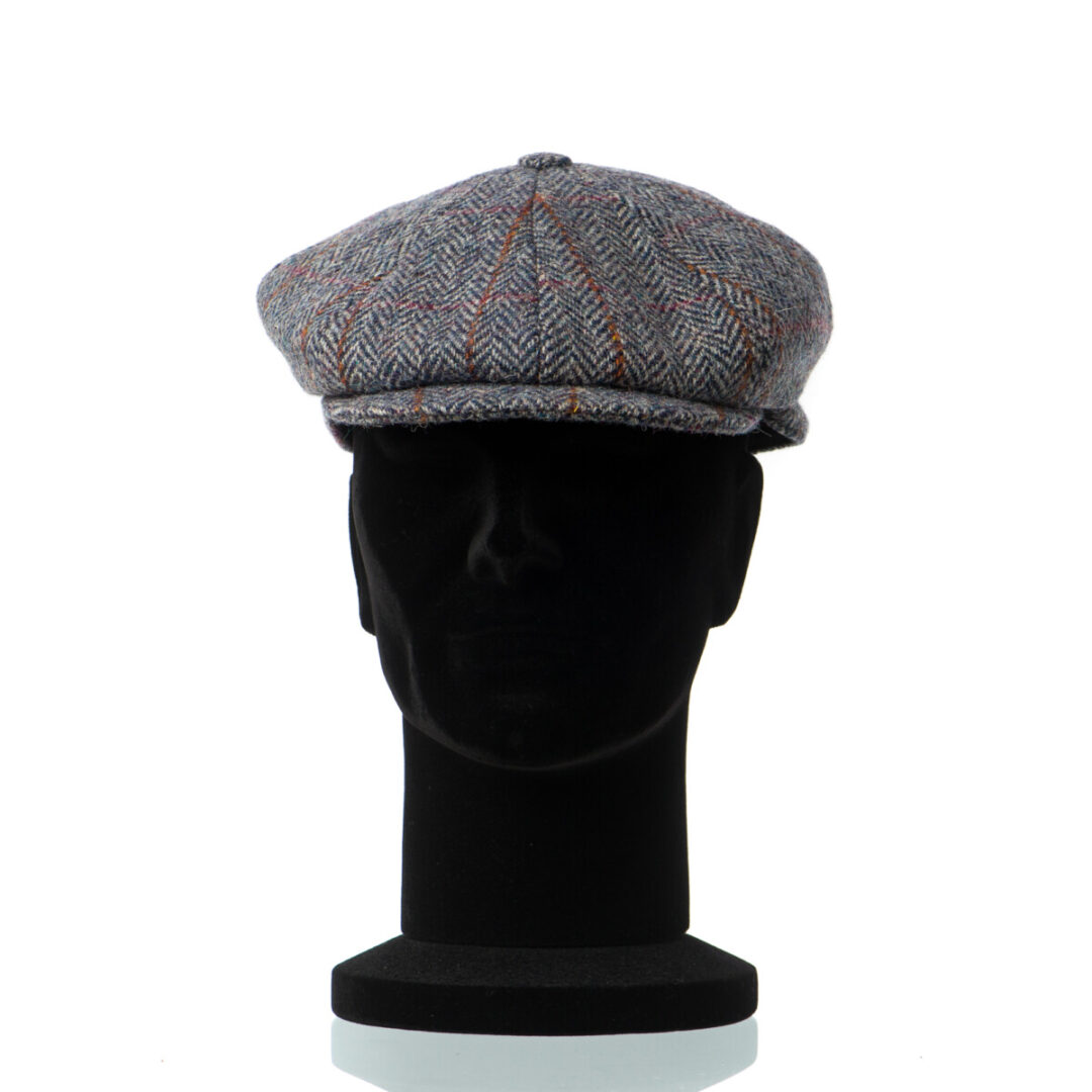 Sapca Hamilton gri Harris Tweed