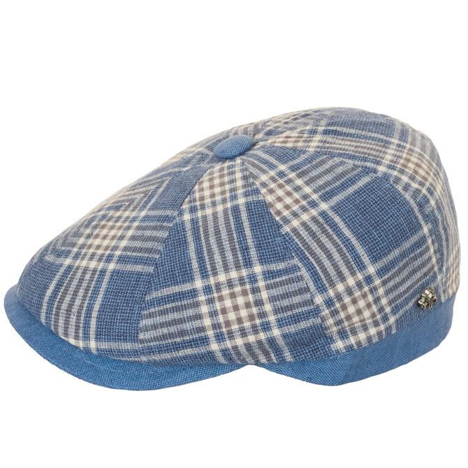 Sapca Peaky blu/beige